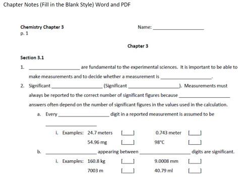 Stoichiometry (Chemistry Ch 12 - Bundled Lesson)