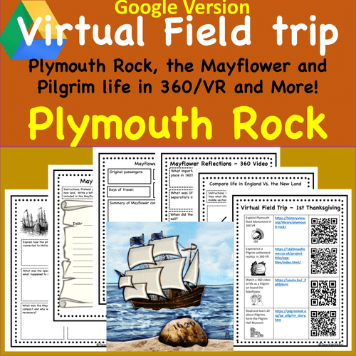 Digital Version: Virtual Field Trip to Plymouth Rock - 1st Thanksgiving History - Mayflower/Pilgrims in 360 and VR