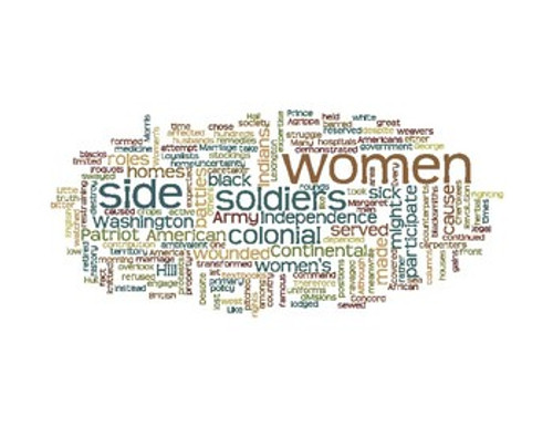 American Revolution Wordle Word Art Women Native Americans and Africans