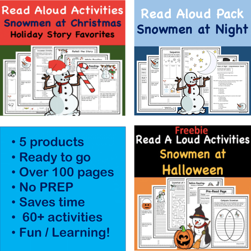 Digital Version: Snowmen At Night Series - Virtual Read Aloud Discount Bundle 5 Great stories for the price of 3!