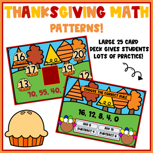 Thanksgiving Math Patterns (CCSS 5.OA.A.1 Aligned)