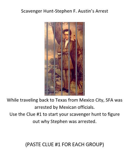 Stephen F. Austin's Arrest Scavenger Hunt
