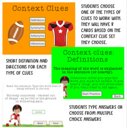 Context Clues: Fall BOOM cards