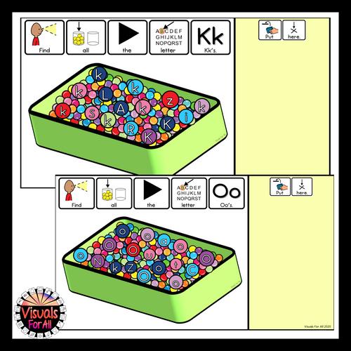 Alphabet Digital Sensory Bin