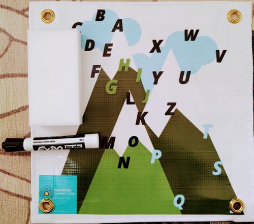 "Alphabet Mountain 12"" x 12"" mat with marker and eraser"