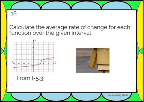 Average Rate of Change of Nonlinear Functions: Google Slides Picture Puzzle (20)