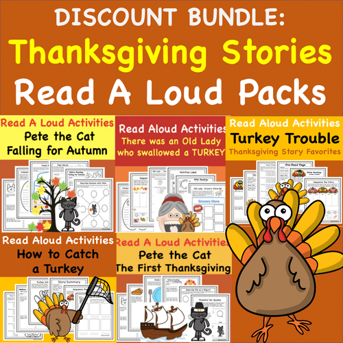 Favorite Thanksgiving Story Bundle Discount- 5 Great stories for the price of 3!