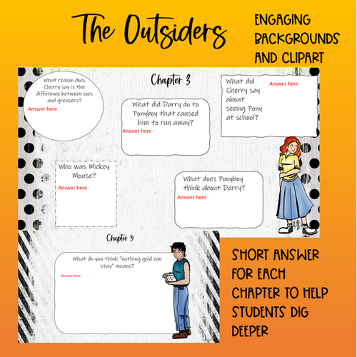 The Outsiders DIGITAL worksheets