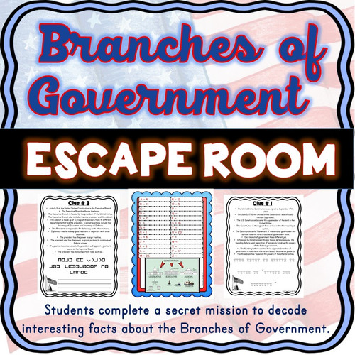 Branches of Government ESCAPE ROOM!