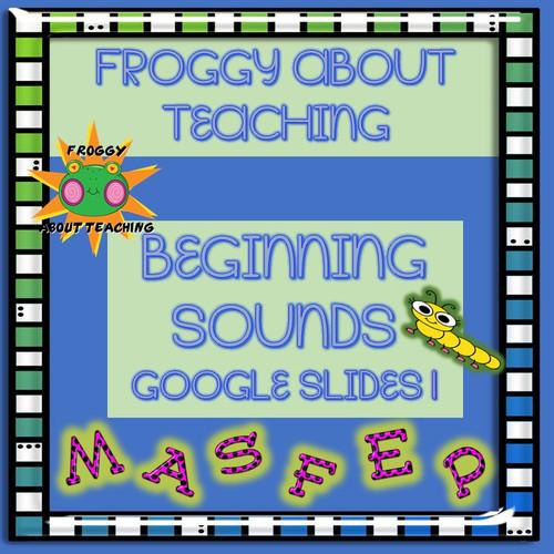K-1 Beginning Sounds Google Slides Bundle: Sets 1-5