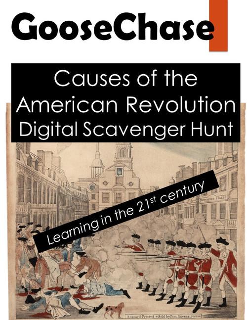 Revolutionary War GooseChase - Causes of the American Revolution Scavenger Hunt
