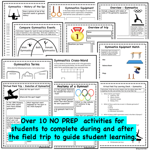 Virtual Field Trip - Behind the Sport- Gymnastics - Science and PE