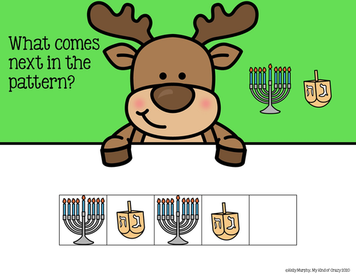 Christmas Patterning, AB, ABB, Google Slides