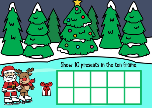 Christmas Ten Frames Google Slides