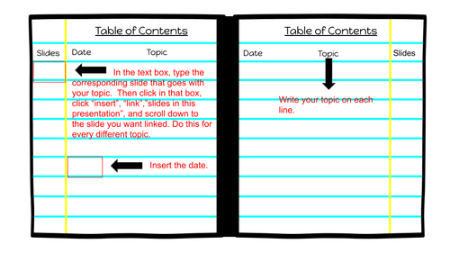 Digital Notebook for any subject area