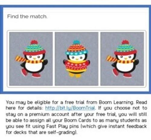 Matching: Winter Animal Theme Boom Cards™
