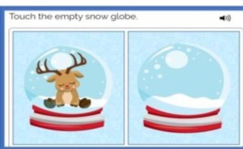Modified Nouns - Level 1 - Winter Theme - Boom Cards™