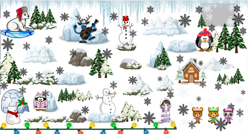 January Winter Treasure Hunt Evaluating Algebraic Expressions EDITABLE Polar Bear