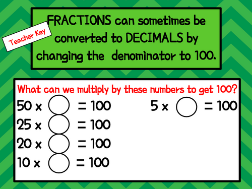 Fractions to Decimals with Kelly's Number Chips - Digital