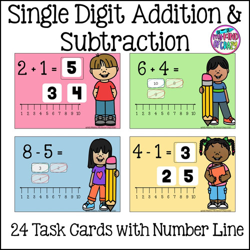Number Line Addition and Subtraction Boom Cards