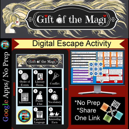 Gift of the Magi Escape Room Activity Digital Breakout Distance Learning