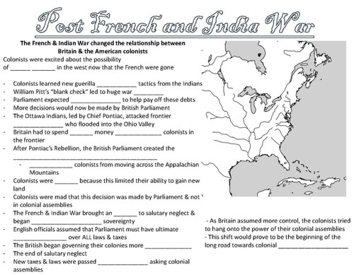 French & Indian War Lesson  Notes / PPT