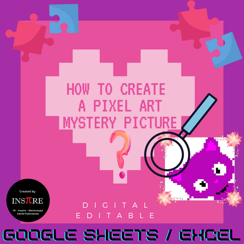How to create a Pixel Art Mystery Picture in Google Sheets + Kitty +Owl EDITABLE