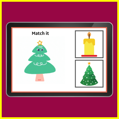 Animated Christmas Matching Game Boom Cards