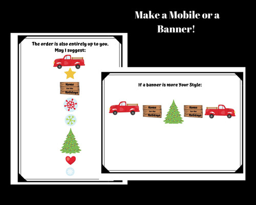 Christmas / Winter Mobile or Banner Craft