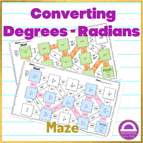 Converting Degrees and Radians Maze