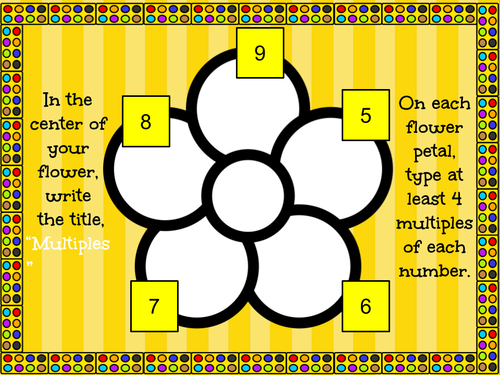 Multiples Flower - Graphic Organizer