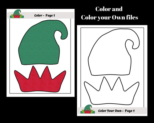 Christmas Elf Hat Craft - Freebie