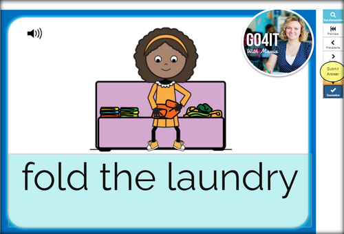 Boom Cards™ – Chores Vocabulary - Spelling Practice | Audio