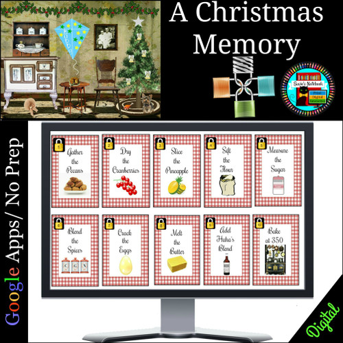 A Christmas Memory Digital Breakout Escape Room Distance Learning