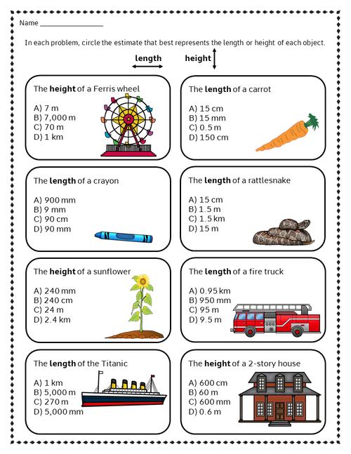 FREEBIE  Metric System Worksheet