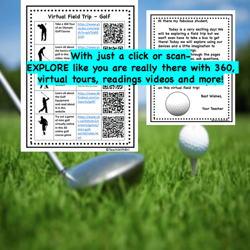 Digital Version - Virtual Field Trip - Behind the Sport- Golf - Science & PE