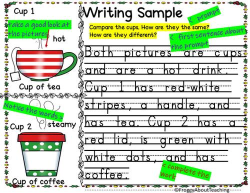 1st g. Christmas  Writing Prompts