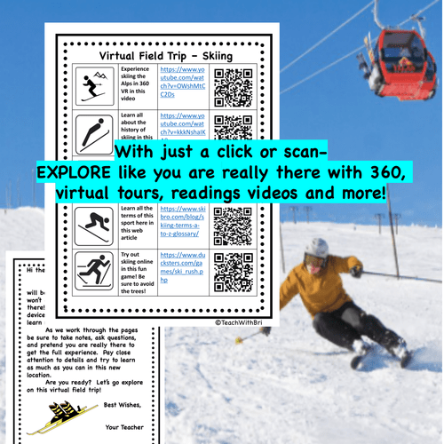 Digital Version - Virtual Field Trip - Behind the Sport- Skiing - Science & PE