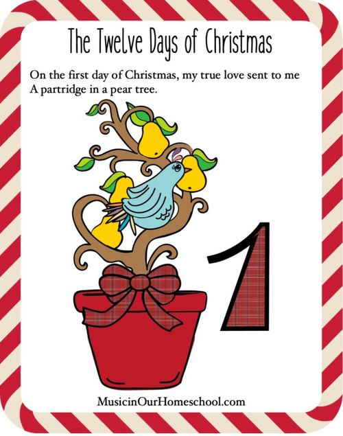 Christmas Song Lyric Sheets with 12 Days Coloring Pages
