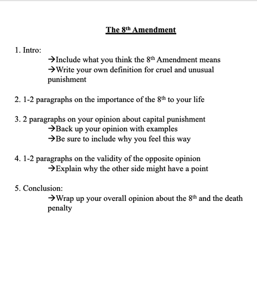 Essay Prompts for Government