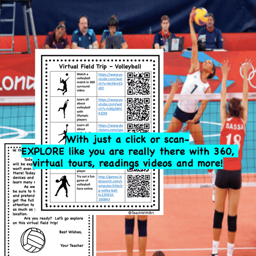 Digital Version - Virtual Field Trip - Behind the Sport- Volleyball - Science & PE