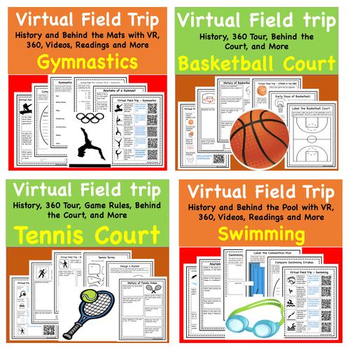 Mega Discount Bundle- Virtual Field Trip - Favorite Sports- Science & PE- 12 exciting trips