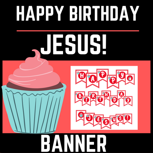 Happy Jesus Birthday Banner