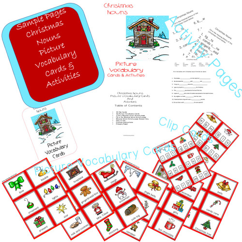 Christmas Nouns Activity Set