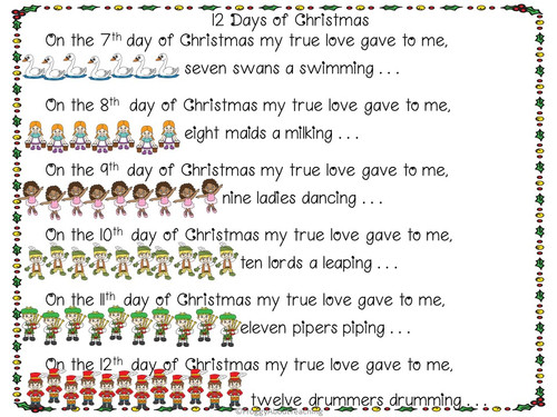 12 Days of Christmas Literacy Packet