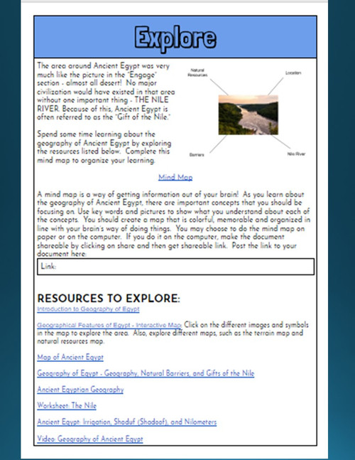 Nile River Hyperdoc: Geography of Ancient Egypt Webquest