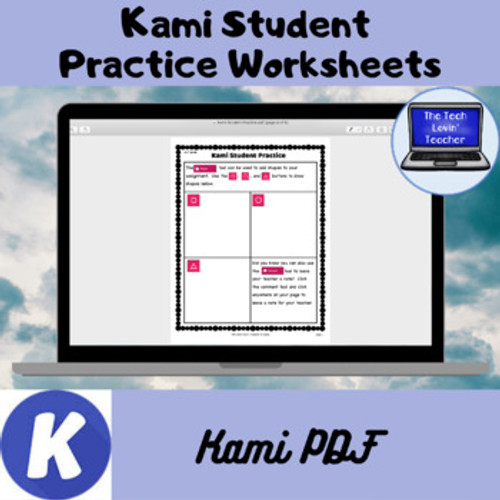 Kami Student Practice Worksheets (Free Product)