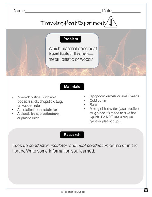 Heat Transfer and Heat Energy Activity | Distance Learning for Google Slides™ + Print