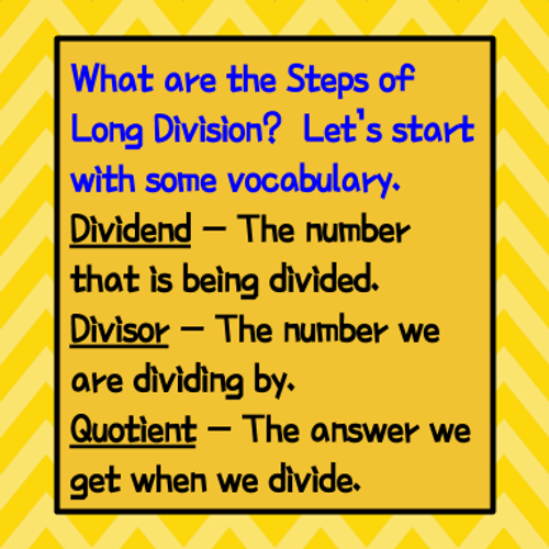 Division  - Long Division w. Remainders - Kelly's Number Chips