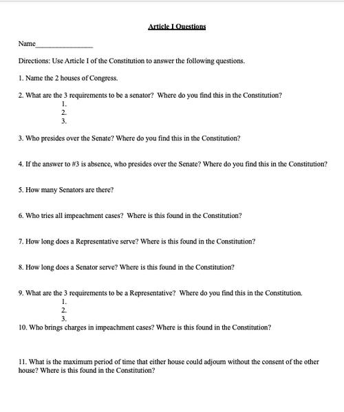 U.S. Constitution Unit